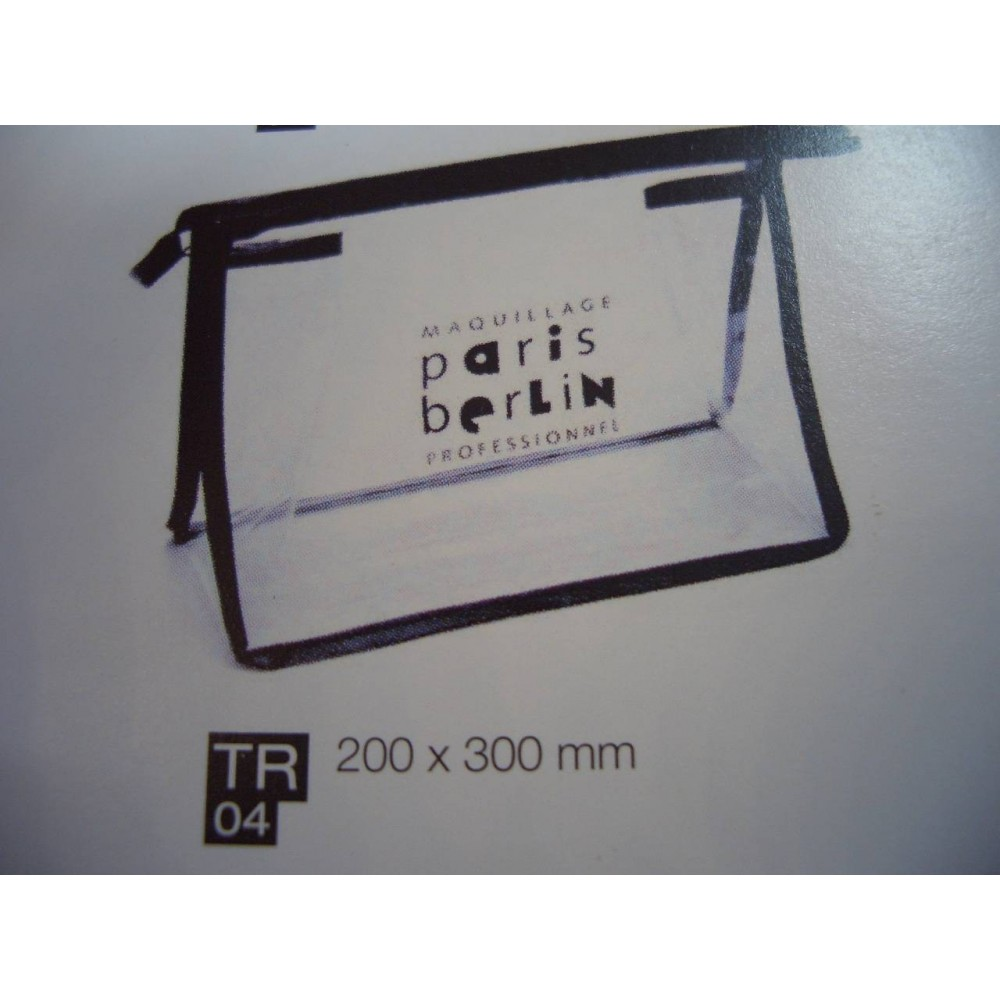 Paris Berlin Transparent Necesser PVC	200x300mm