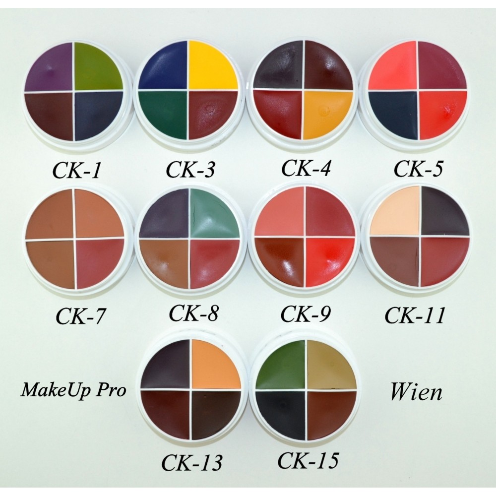 Ben Nye F/X Color Wheels 4 Farben  14g