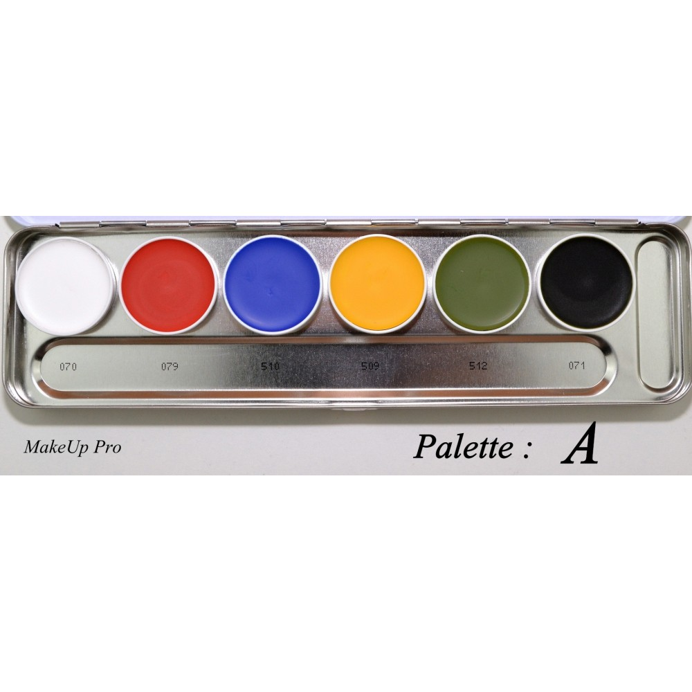 Kryolan Supracolor Palette 6 Farben   20ml