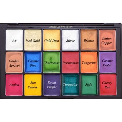 Ben Nye Lumière Creme Colour Palette, 18 Color