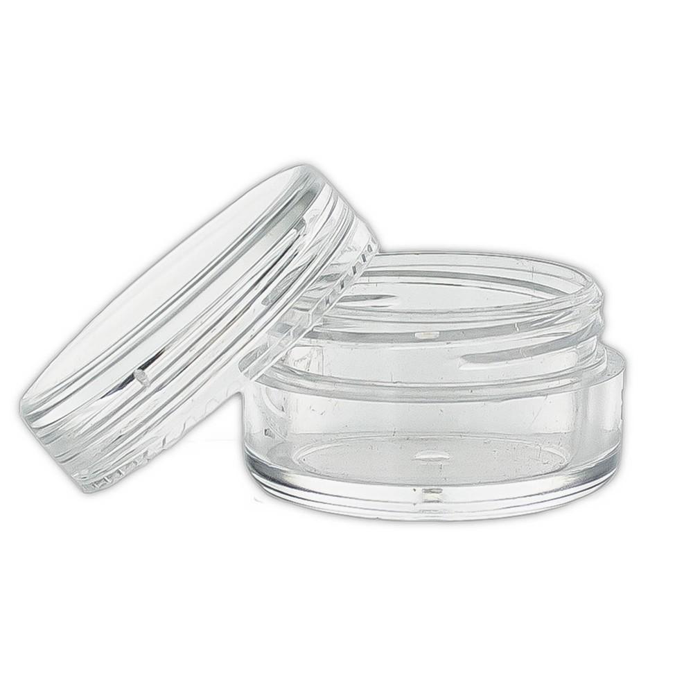 SET tégely, átlátszó + átlátszó tető 5 ml