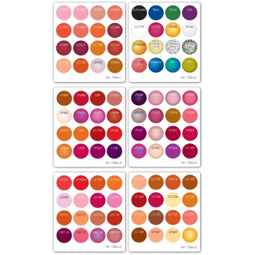 Kryolan mini rúzspaletta 16 színnel