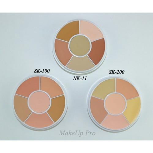 Ben Nye Media Pro Total Conceal-All Wheel 6 színnel, 28 g
