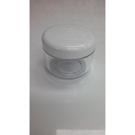 Átlátszó, műanyag tégely, 50 ml