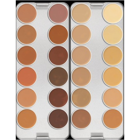 Kryolan Dermacolor Camouflage krémalapozó paletta 24 színnel 80 g K