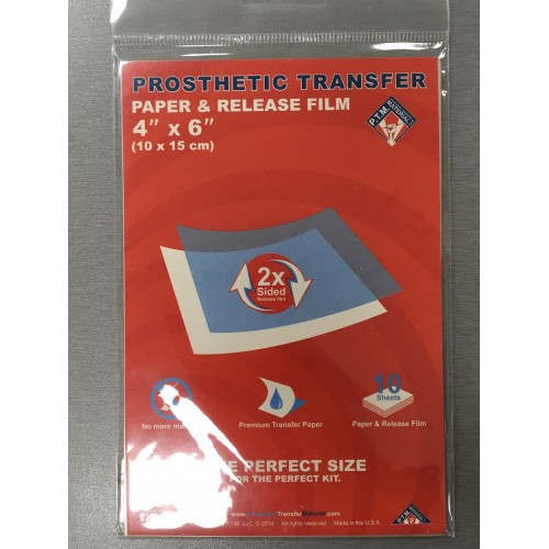 Prosthetic Transfer Paper & Release Film 4*6
