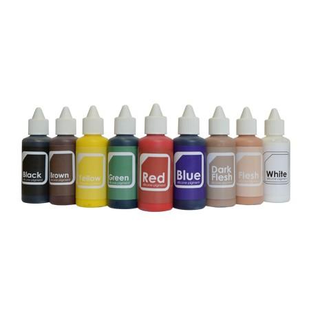 Silicone pigment